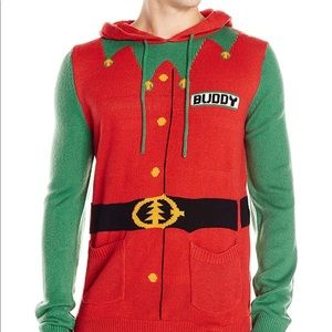 Sweaters Buddy The Elf Ugly Christmas Sweater Hooded Poshmark
